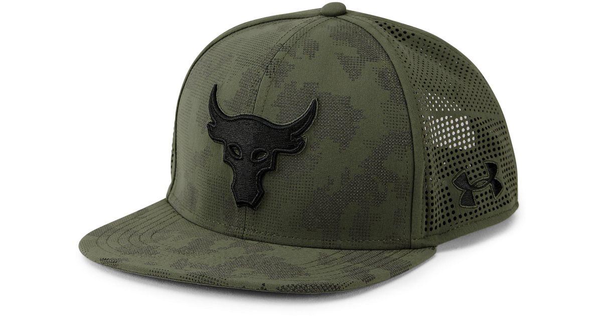 ... official under armour ua x project rock supervent snapback cap in green for  men lyst e1371 c2ea03c41b1e