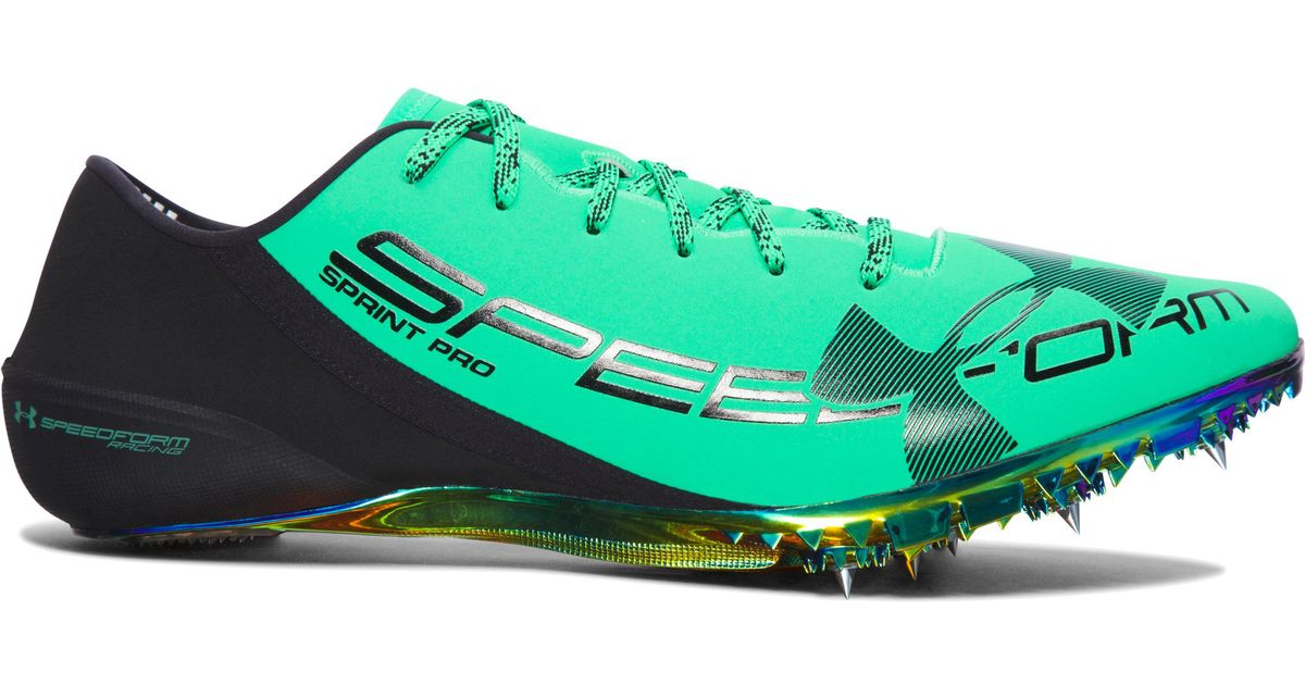 select for authentic classic style low priced Under Armour Green Ua Speedform® Sprint Pro Track Spikes for men