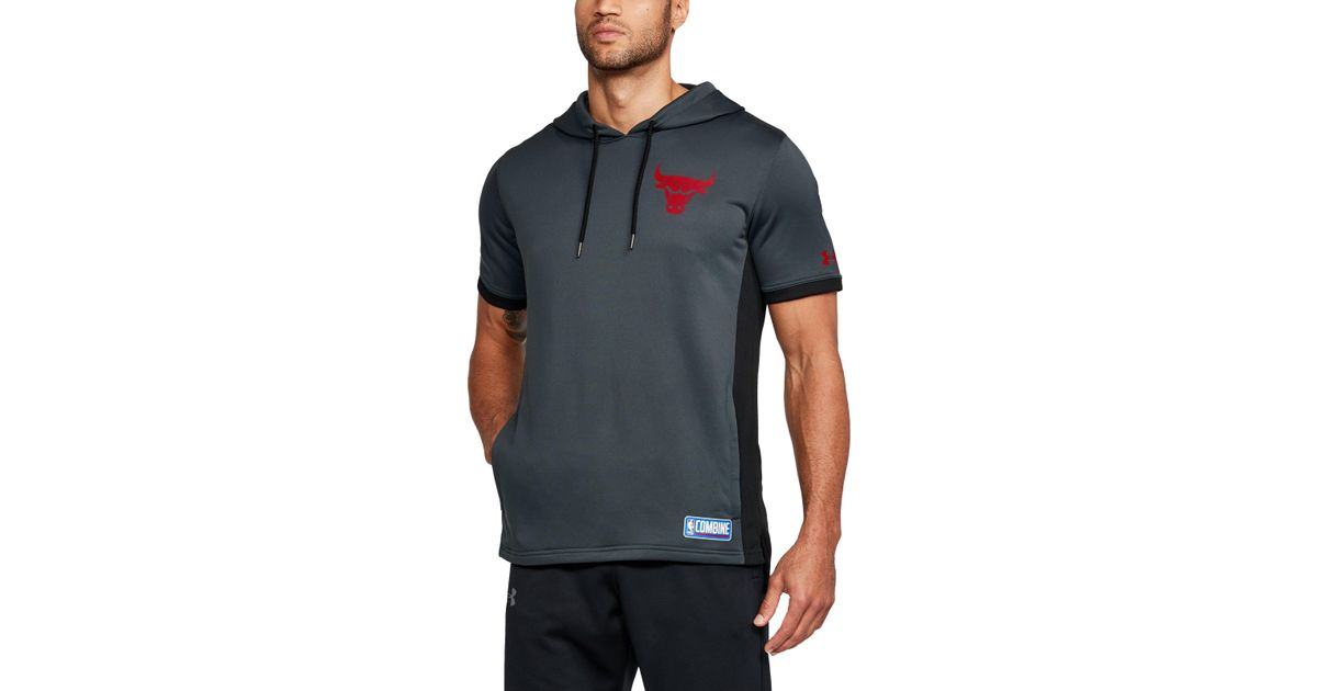 dbe2de2dd0e1 Lyst - Under Armour Men s Nba Combine Ua Baseline Short Sleeve Hoodie in  Gray for Men
