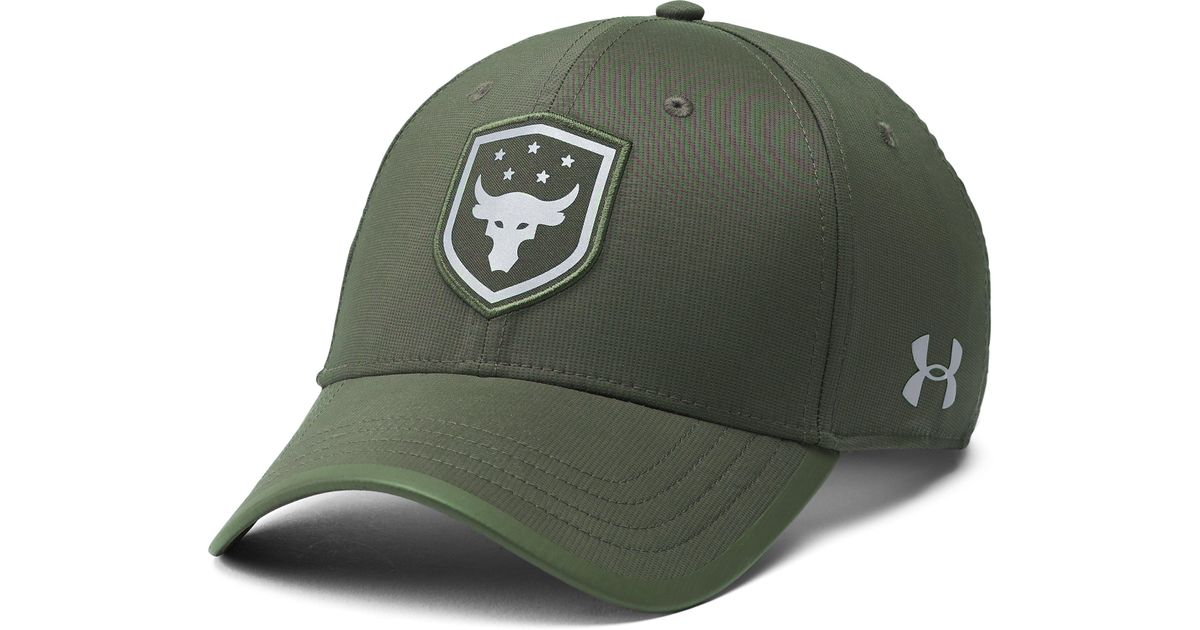 c7e9529773b Lyst - Under Armour Men s Ua X Project Rock Threadborne Training Cap in  Green for Men