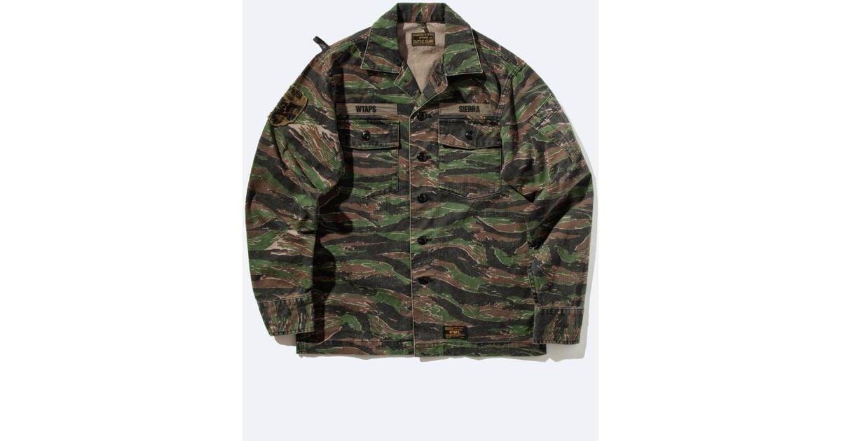 6feec8a88412f WTAPS Buds Ls Shirt (tiger Stripe Camo) for Men - Lyst
