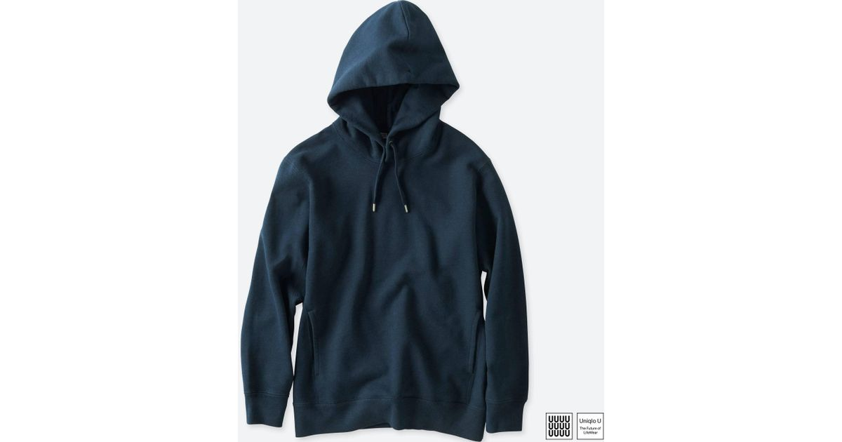cfcc766891 Uniqlo Men U Long-sleeve Hoodie in Blue for Men - Lyst