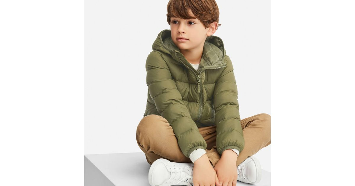 f9954d94f Lyst - Uniqlo Boys Light Warm Padded Parka in Green for Men
