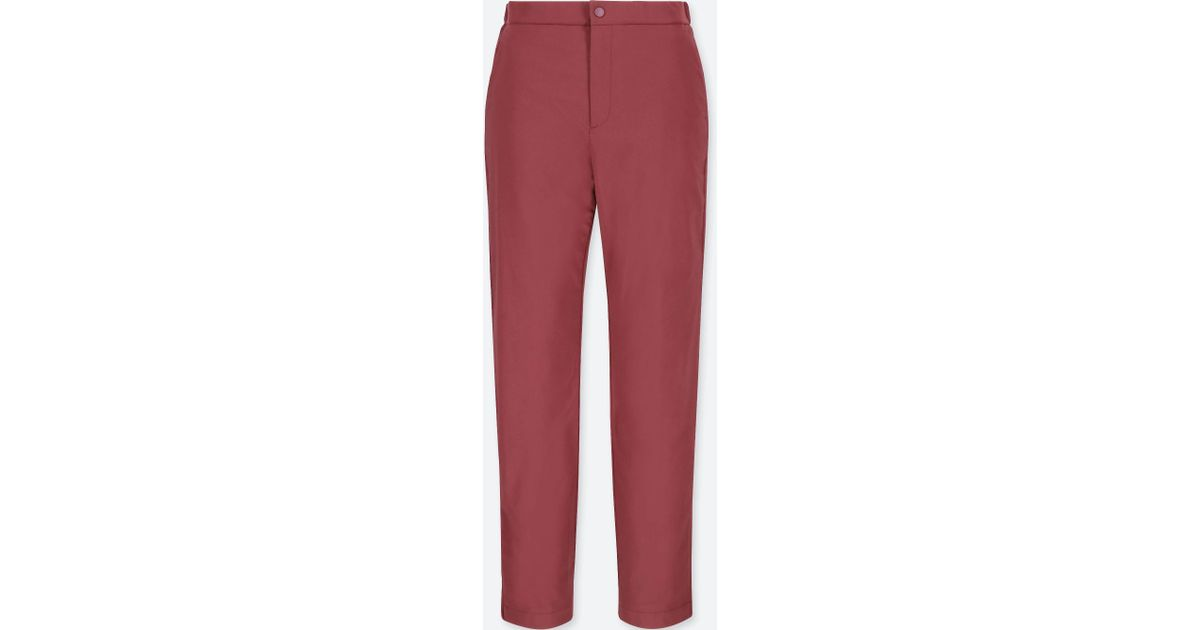 Lyst - Uniqlo Women Blocktech Warm-lined Pants in Red b6df4f1ccc33