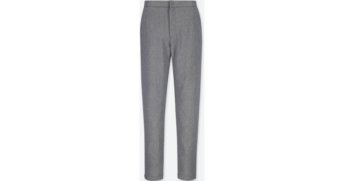 fa6386d4488553 Lyst - Uniqlo Women Blocktech Warm-lined Pants in Gray