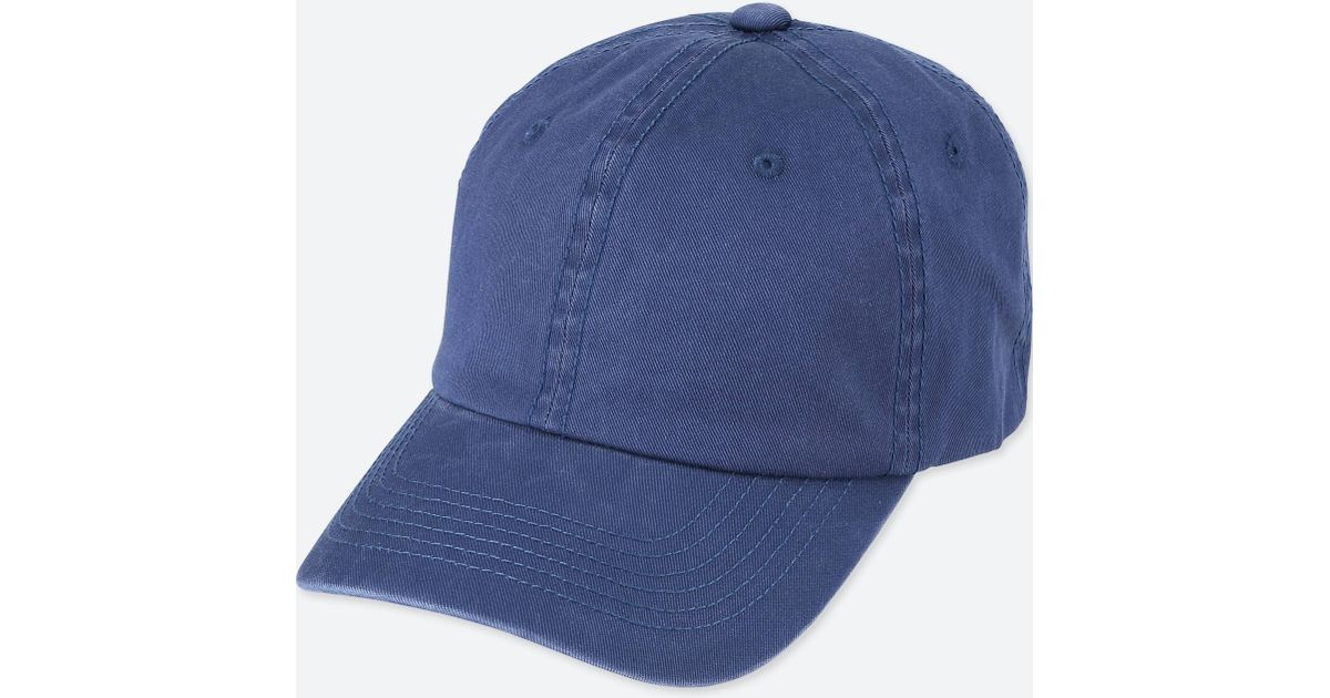Lyst - Uniqlo Cotton Twill Cap in Blue for Men c57b2fef584