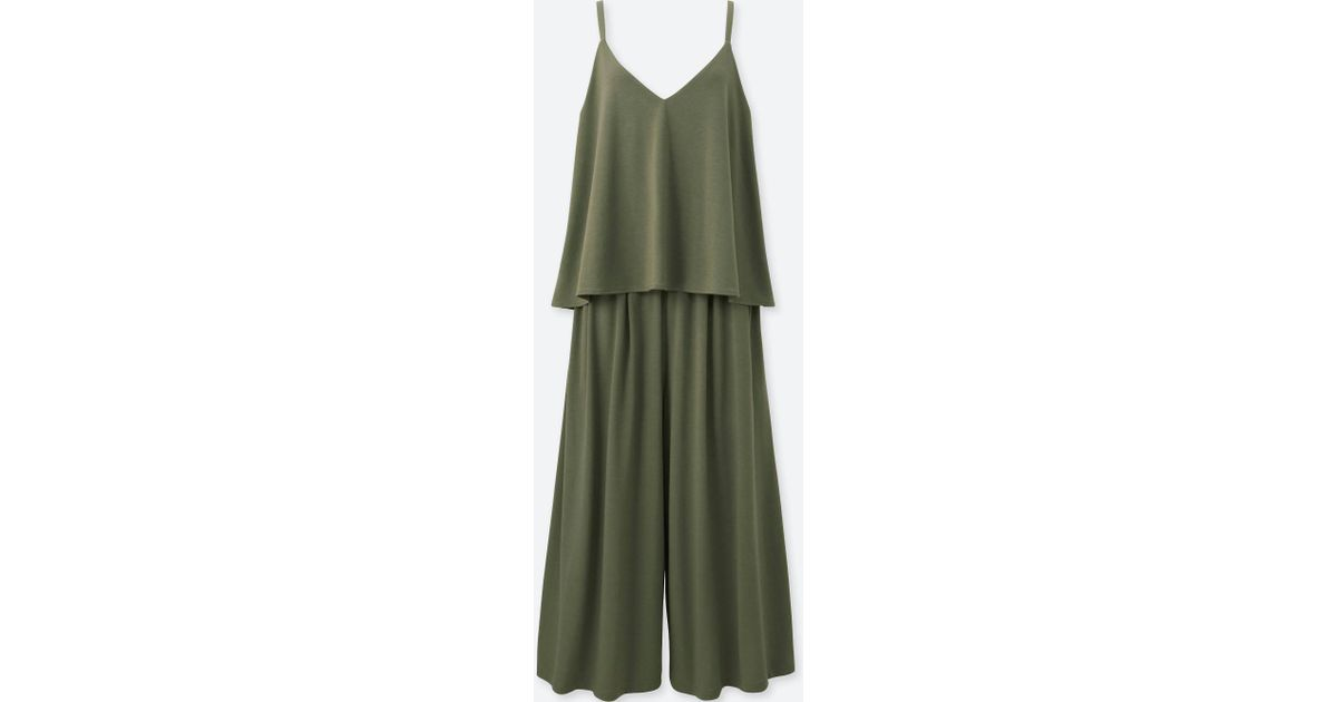 bcdd7230114c Lyst - Uniqlo Camisole Jumpsuit in Green
