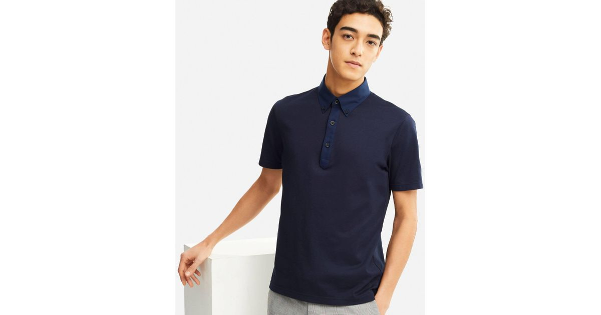 a1552b17e67c9 Lyst - Uniqlo Men Airism Polo Shirt in Blue for Men