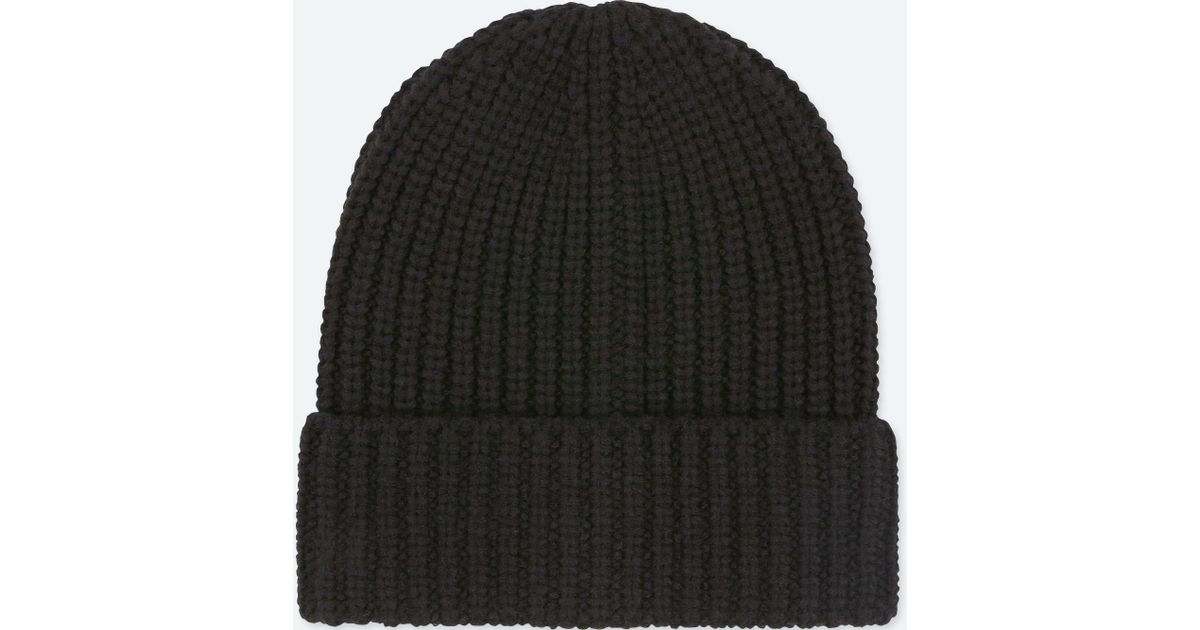 Uniqlo Heattech Knitted Beanie Hat in Black for Men - Lyst 3c0d415a1af