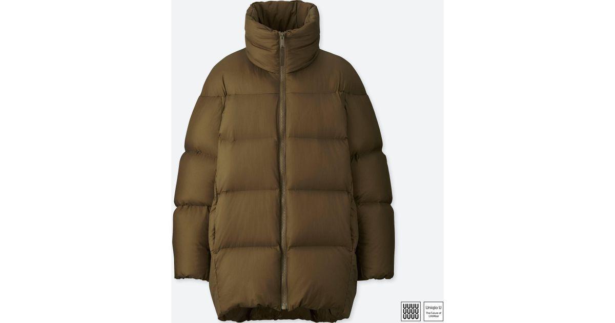 Lyst - Uniqlo U Oversized Down Jacket in Brown 5eb3f0a587