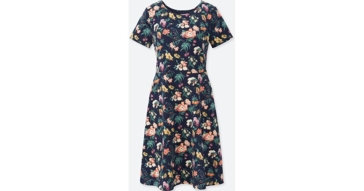 a72e8367ca Uniqlo Women Studio Sanderson For Short-sleeve Bra Dress (online Exclusive)  in Blue - Lyst