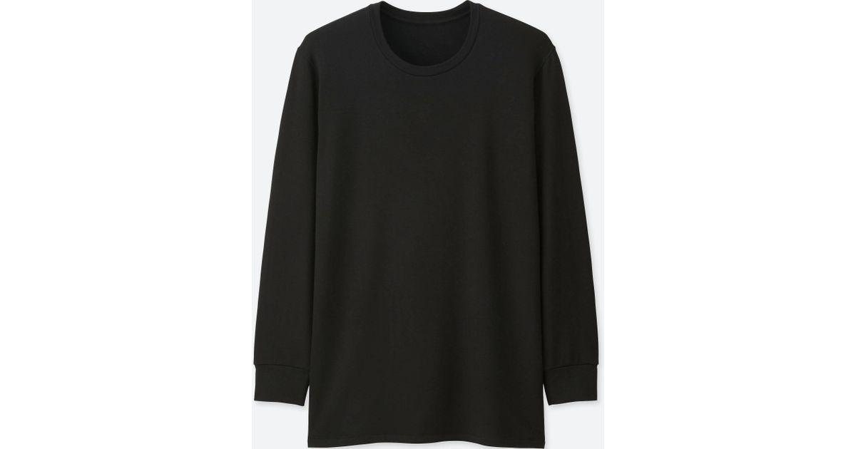 Lyst - Uniqlo Men Heattech Extra Warm T-shirt (long-sleeve) in ...