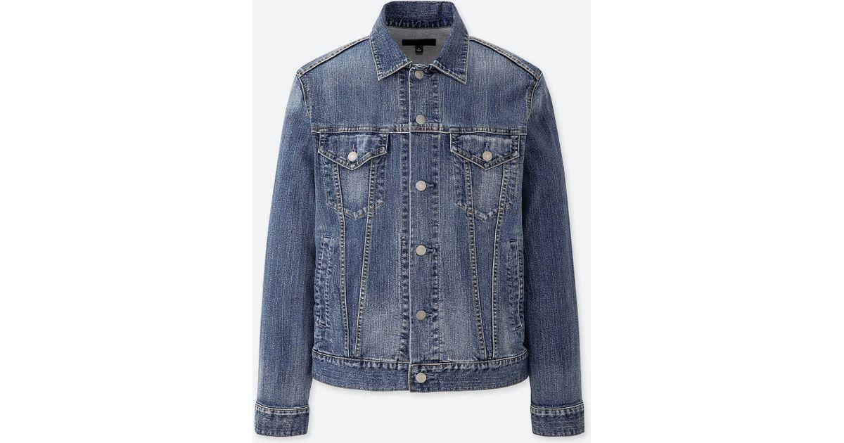 2616bf5515 Lyst - Uniqlo Men Denim Jacket in Blue for Men