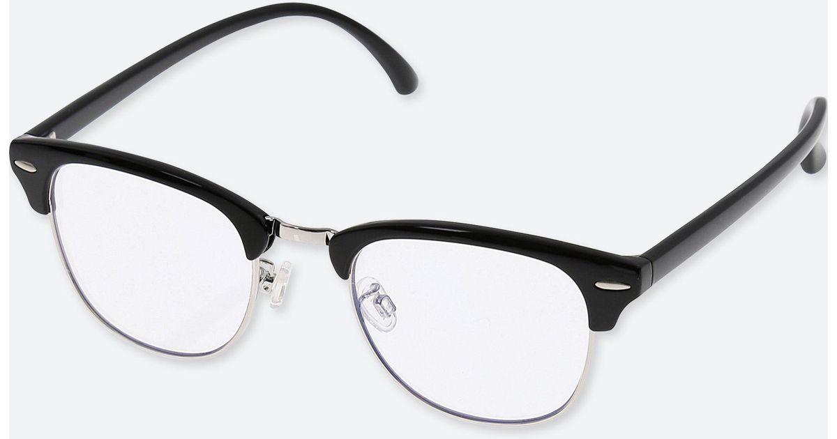Uniqlo Brow Line Computer Glasses Anti Blue Light in Black - Lyst