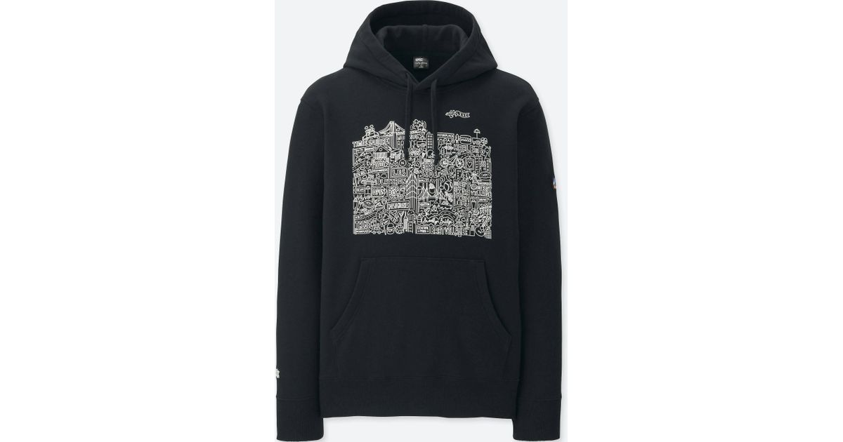 top-rated official outlet for sale discount up to 60% Uniqlo - Black Men Sprz Ny Hooded Sweatshirt (timothy Goodman) for Men -  Lyst