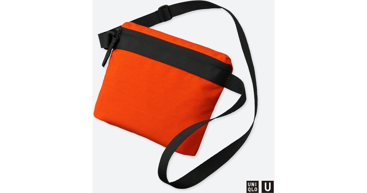 Lyst - Uniqlo U Mini Shoulder Bag in Orange 66567310598ee
