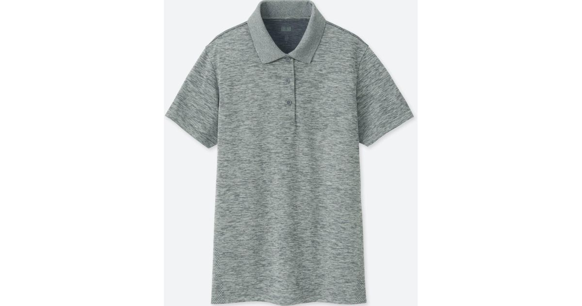 Lyst - Uniqlo Dry-ex Polo Shirt in Gray for Men 8280687b2f