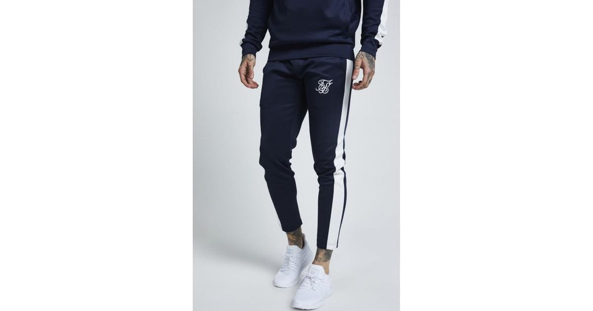 e468d07b60d235 Lyst - SIKSILK Cropped Poly Racing Jogger in Blue for Men