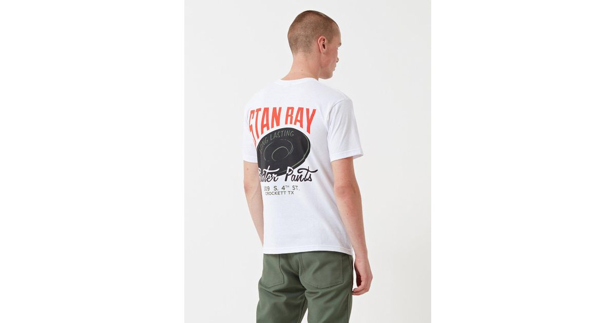 Stan Ray Long Lasting T-shirt in White for Men - Lyst 307ae684cdf5