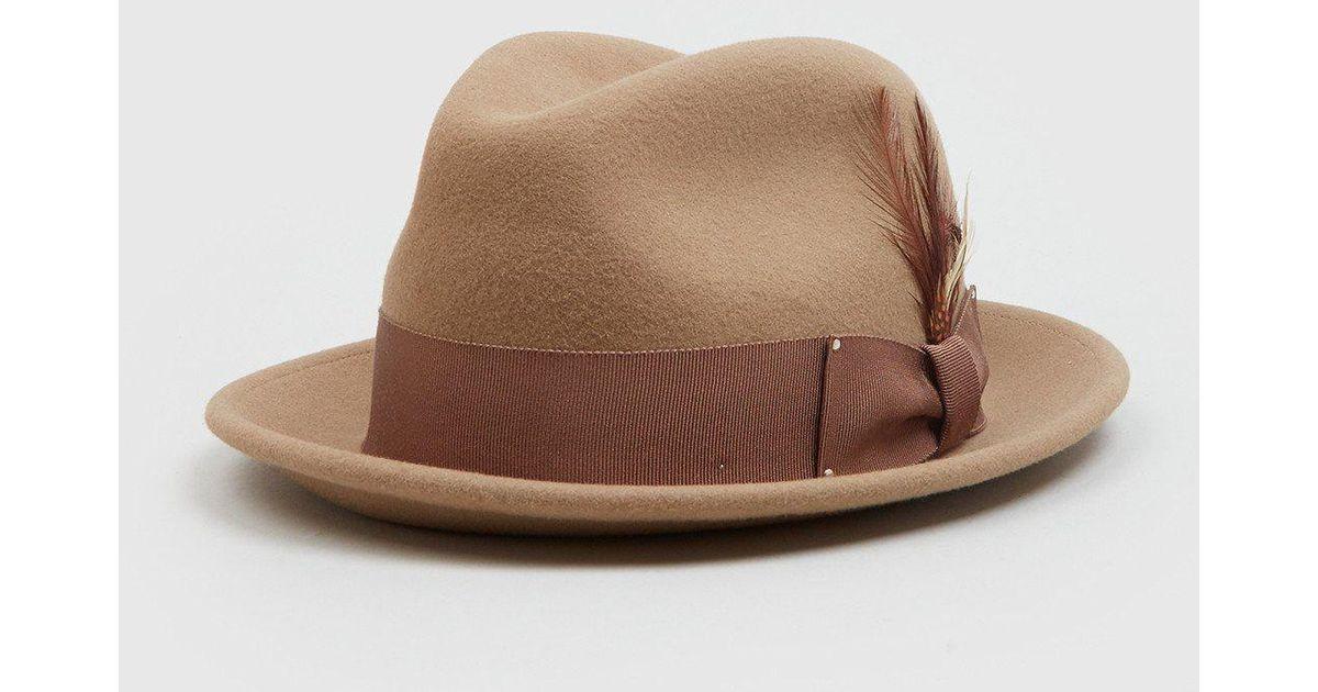 da88245b Bailey of Hollywood Bailey Tino Felt Crushable Trilby Hat (wool) in Brown -  Lyst