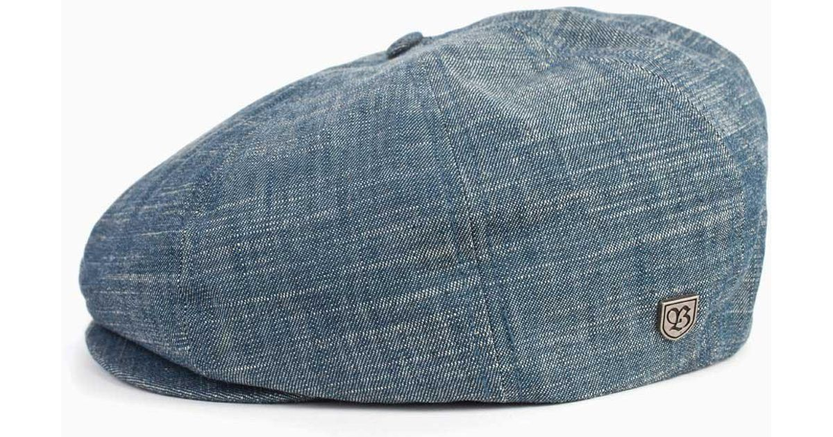 Lyst - Brixton Brood Newsboy Cap in Blue for Men a02e2253628f