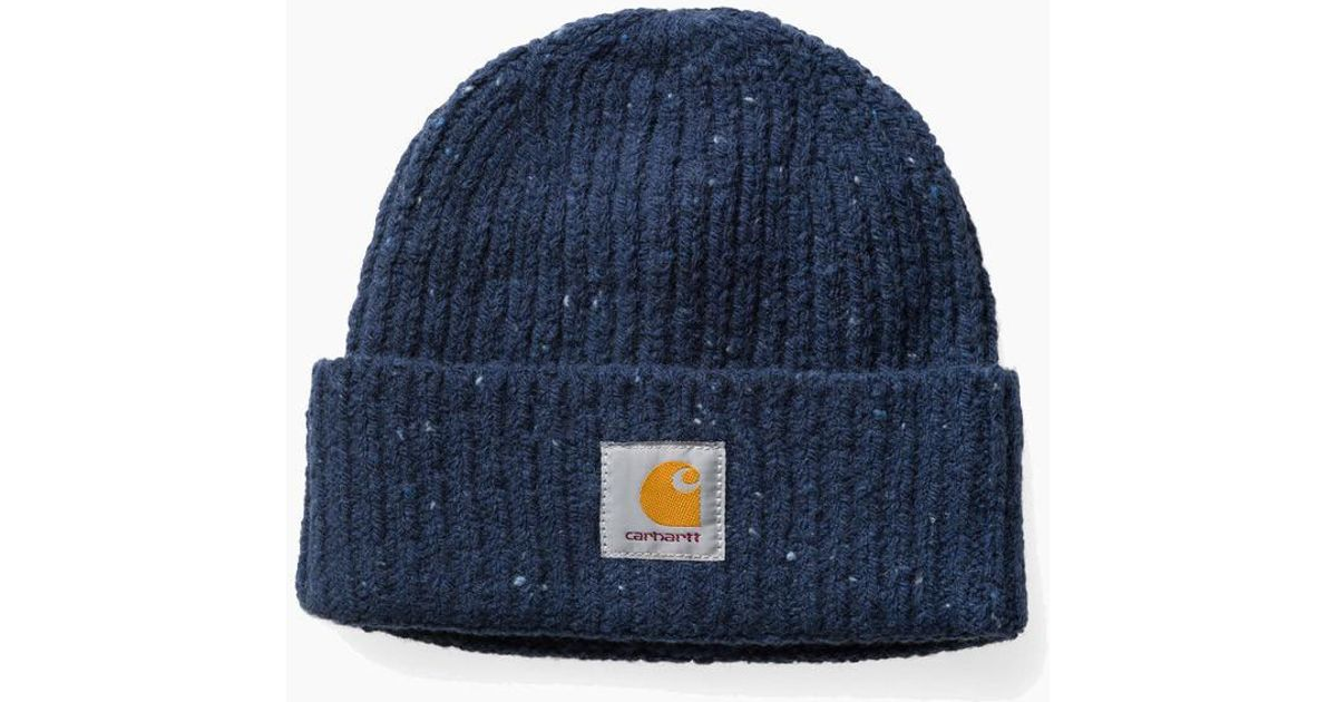 71819598 Carhartt Anglistic Beanie Hat in Blue for Men - Lyst
