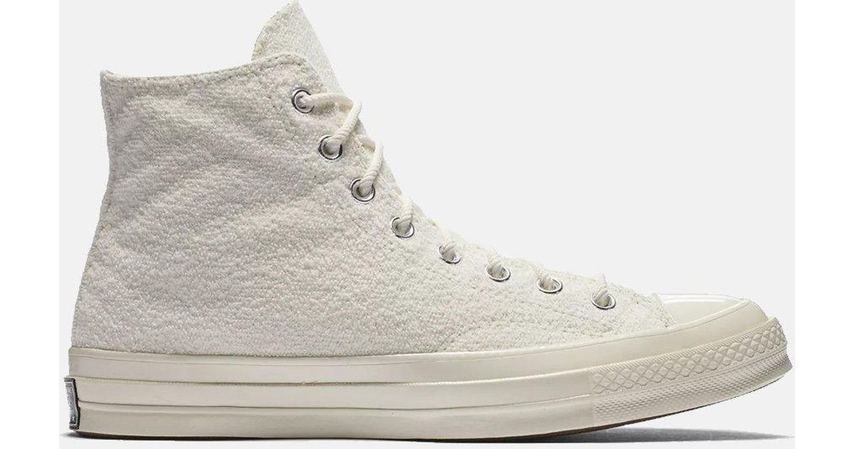 6bfdbfaf9734 Converse Ctas 70s Chuck Taylor Hi Reverse French Terry in White for Men -  Lyst