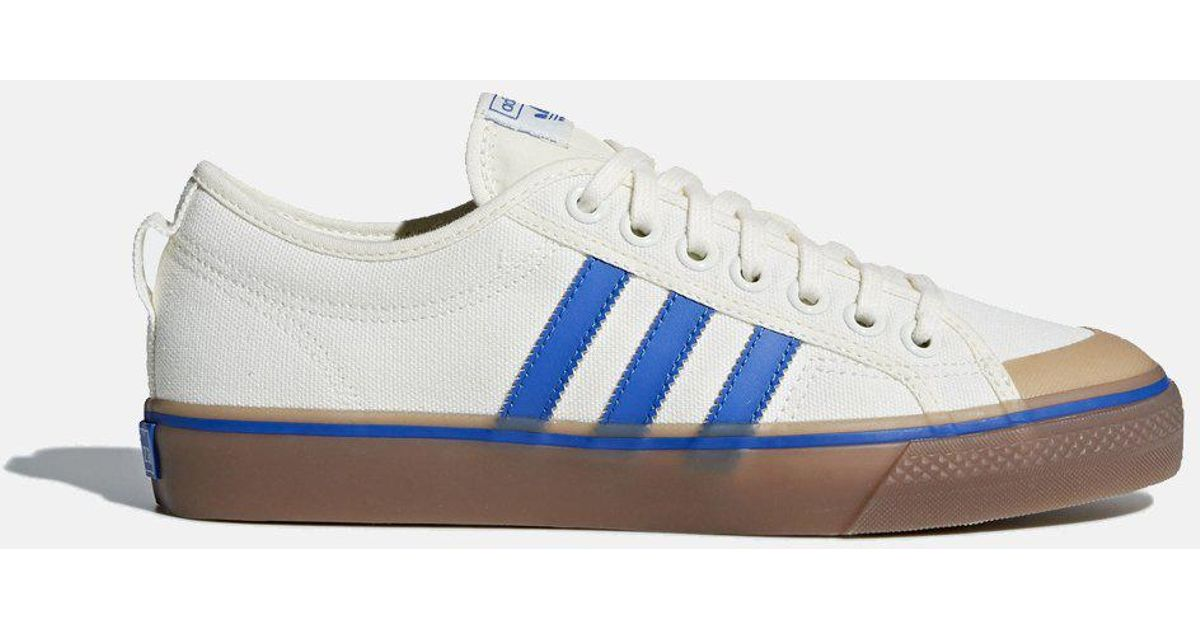 huge selection of 4ac67 b1047 adidas Originals Adidas Nizza Canvas Trainers (da9331) in White for Men -  Lyst