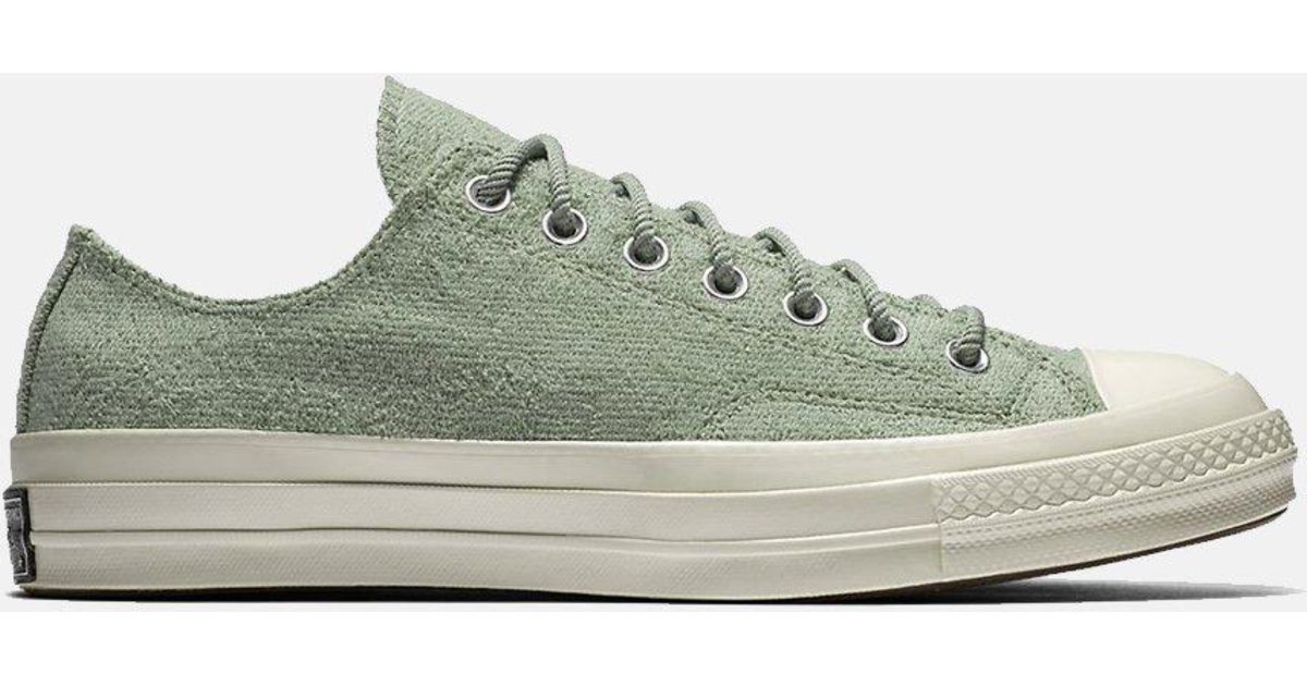 2489f20bd69 Lyst - Converse Ctas 70s Chuck Taylor Low Reverse French Terry in Green for  Men