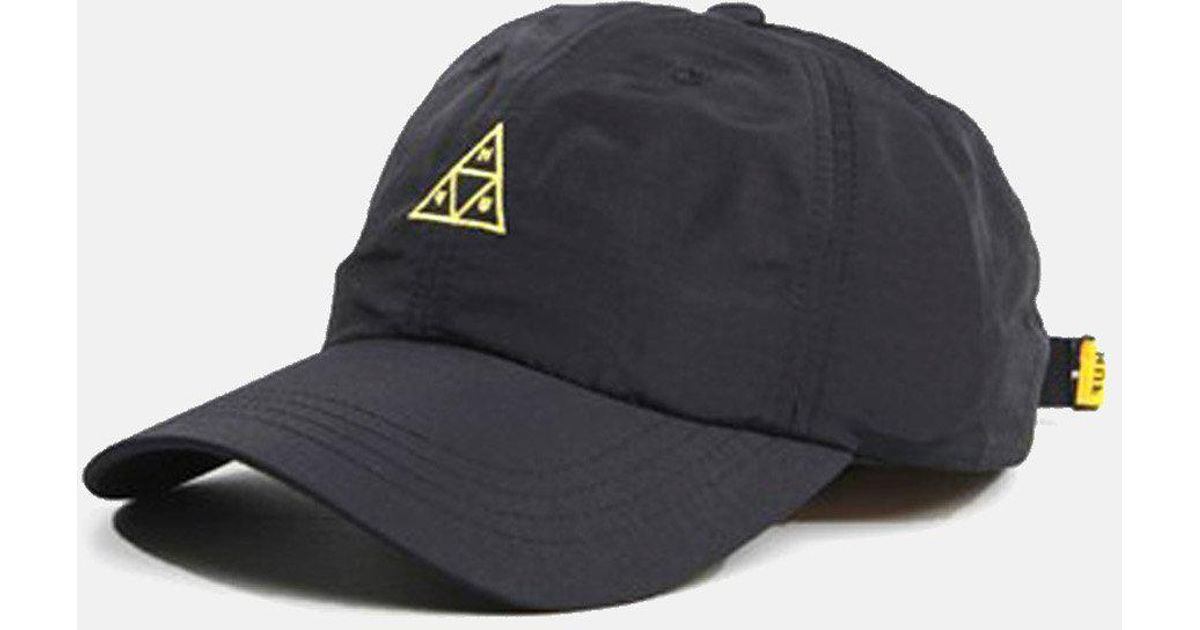782afa6908a0b Huf Triple Triangle Curved Visor 6 Panel Cap in Black for Men - Lyst