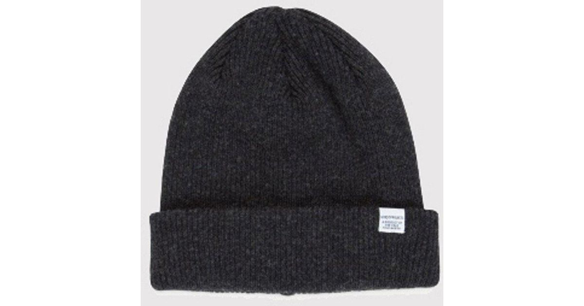 240b25a35d7 Norse Projects Norse Beanie Hat in Gray for Men - Lyst