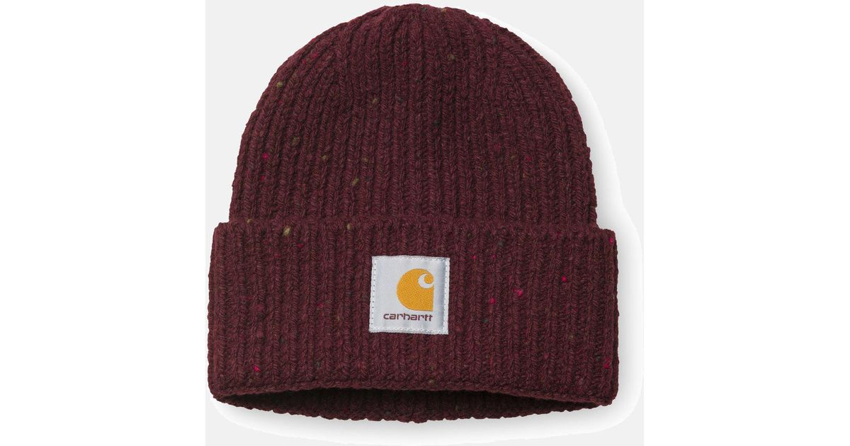Carhartt Anglistic Beanie Hat in Red - Lyst 8339aaf62e77
