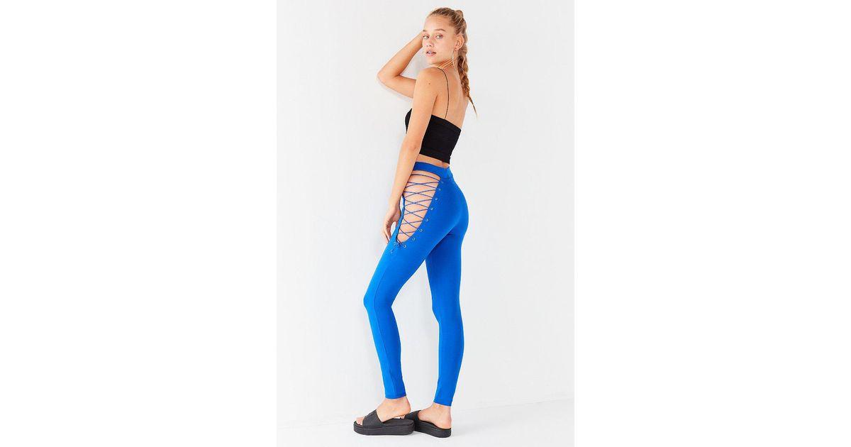 5d2d7b4e4039 Lyst - PUMA Puma Fenty By Rihanna Side-corset Legging in Blue