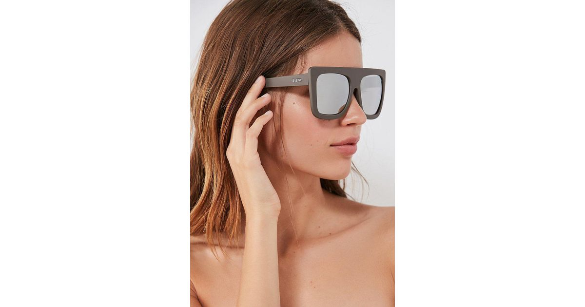3ea69501cd Lyst - Quay Cafe Racer Square Sunglasses in Gray