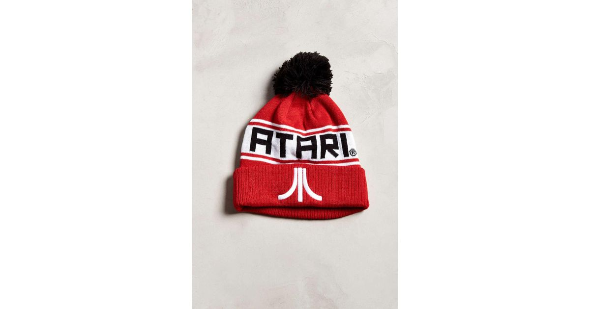 5a54d22ce Urban Outfitters - Red Atari Pompom Beanie - Lyst