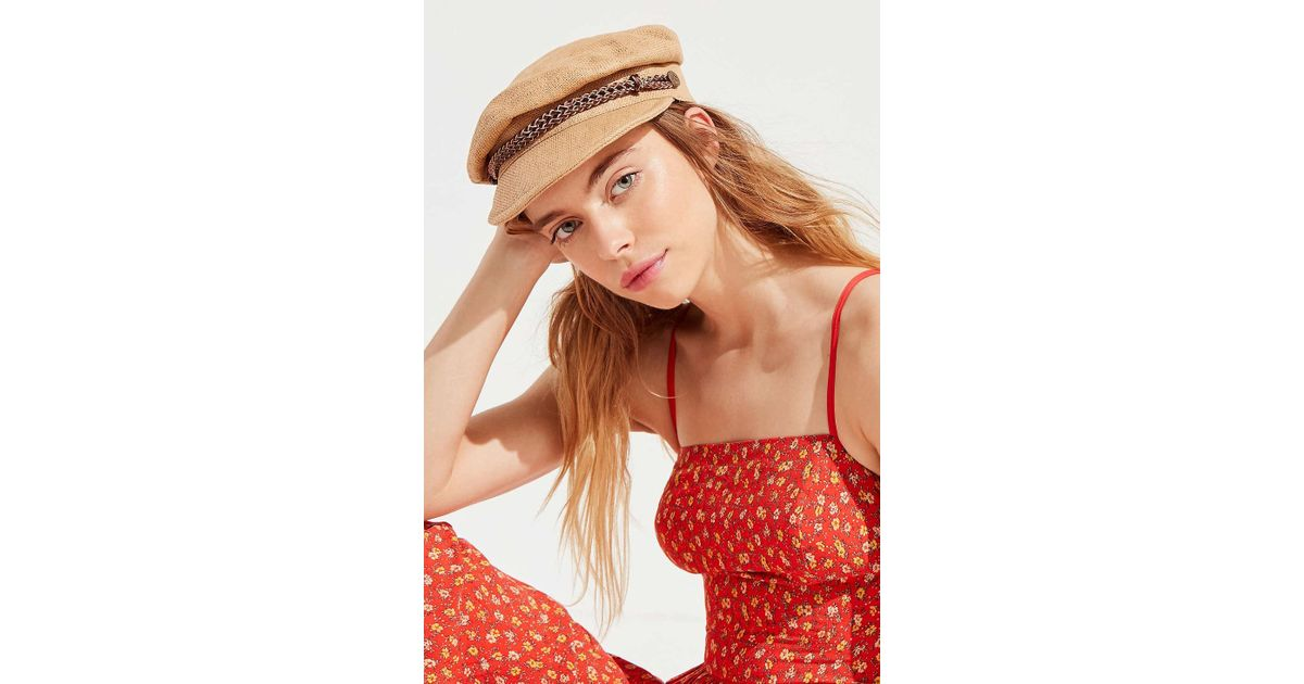 5904a1d22eee0 Lyst - Brixton Kayla Straw Cap in Natural