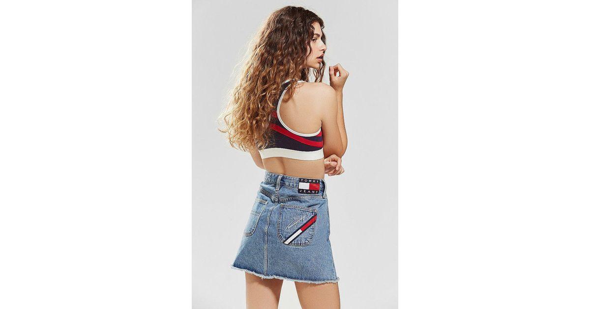 9406b56a5bb Tommy Hilfiger Tommy Jeans Denim Mini Skirt in Blue - Lyst