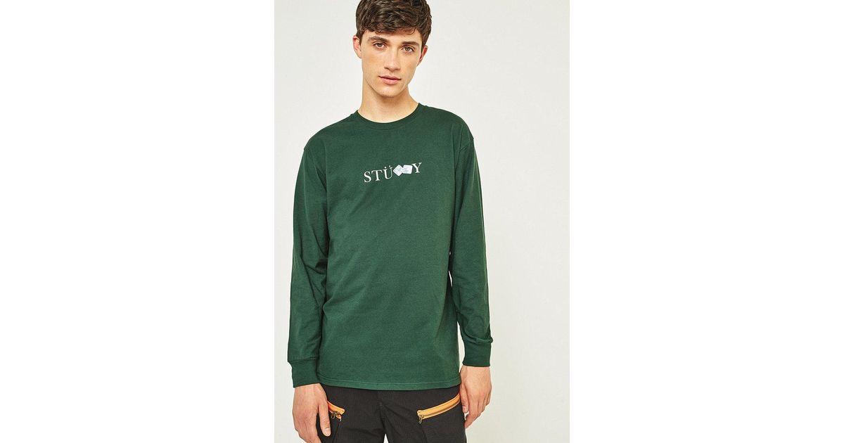 950f826da Stussy Prism Dice Dark Forest Long-sleeve T-shirt in Green for Men - Lyst