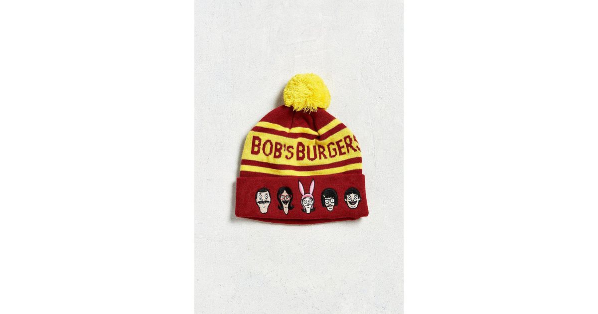 008c8ea4403 Lyst - Urban Outfitters Bob s Burgers Pom Beanie in Red