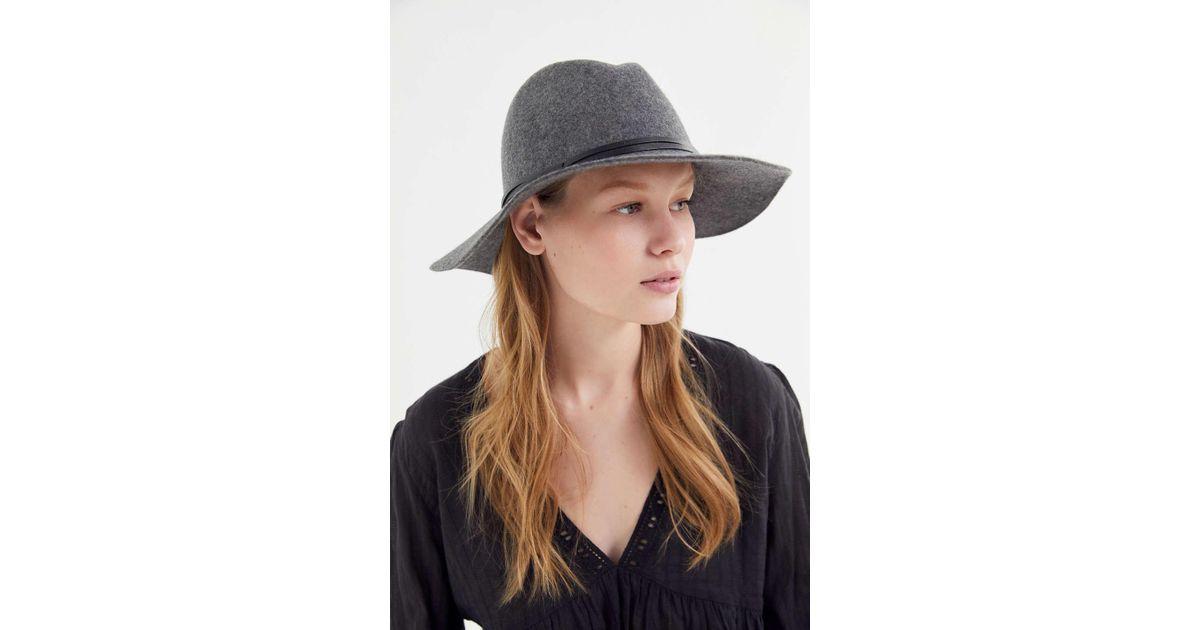b5ba87227 Urban Outfitters - Gray Uo Anna Felt Panama Hat - Lyst