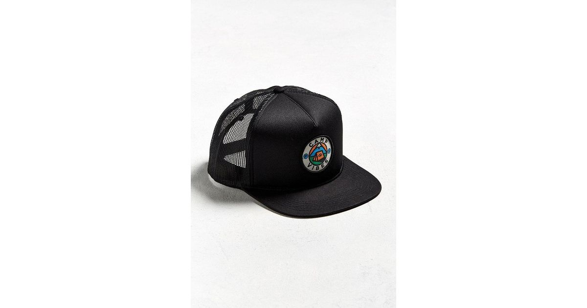 Lyst - Poler Camp Vibes Trucker Hat in Black for Men e7a15d25e73b