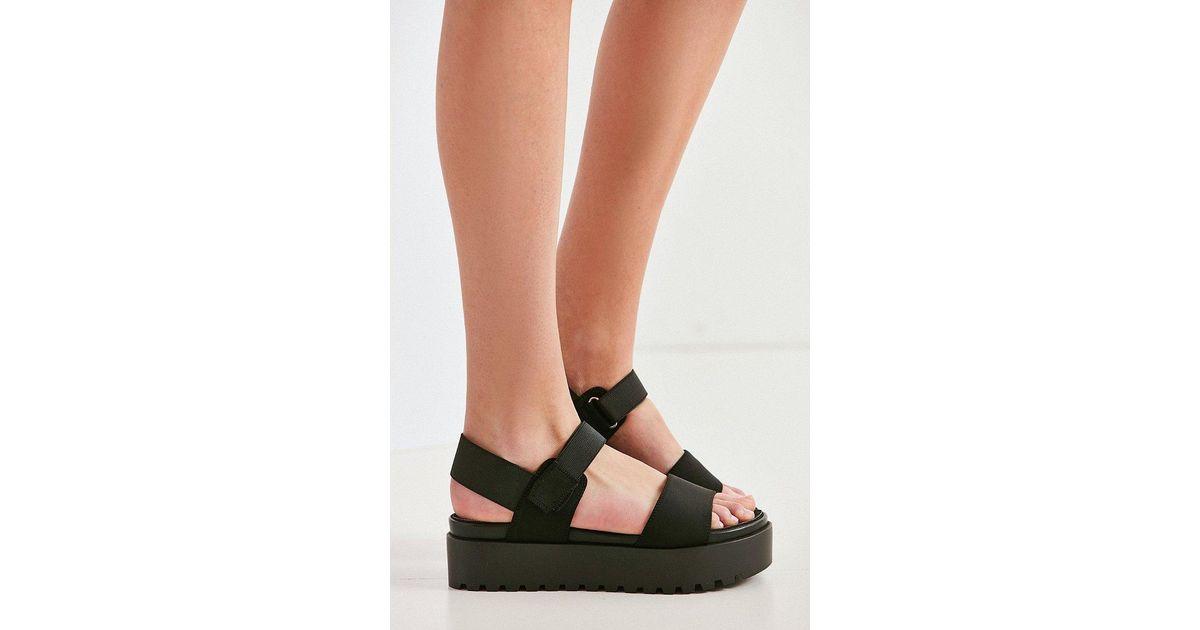 a7cb69007d8 Lyst - Urban Outfitters Scuba Platform Sandal in Black