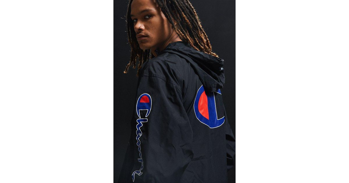 3a4ed5878ae8 Lyst - Champion   Uo Anorak Jacket in Black for Men