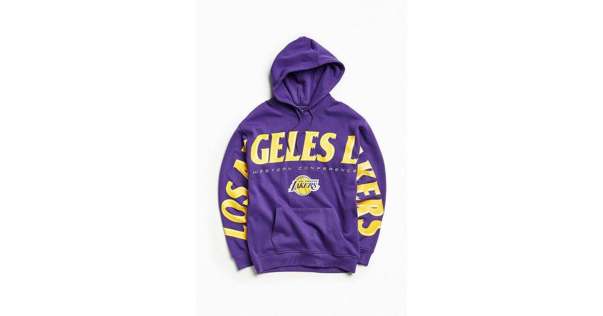 40f7b977c Urban Outfitters Nba Los Angeles Lakers Wingspan Hoodie Sweatshirt in  Purple for Men - Lyst