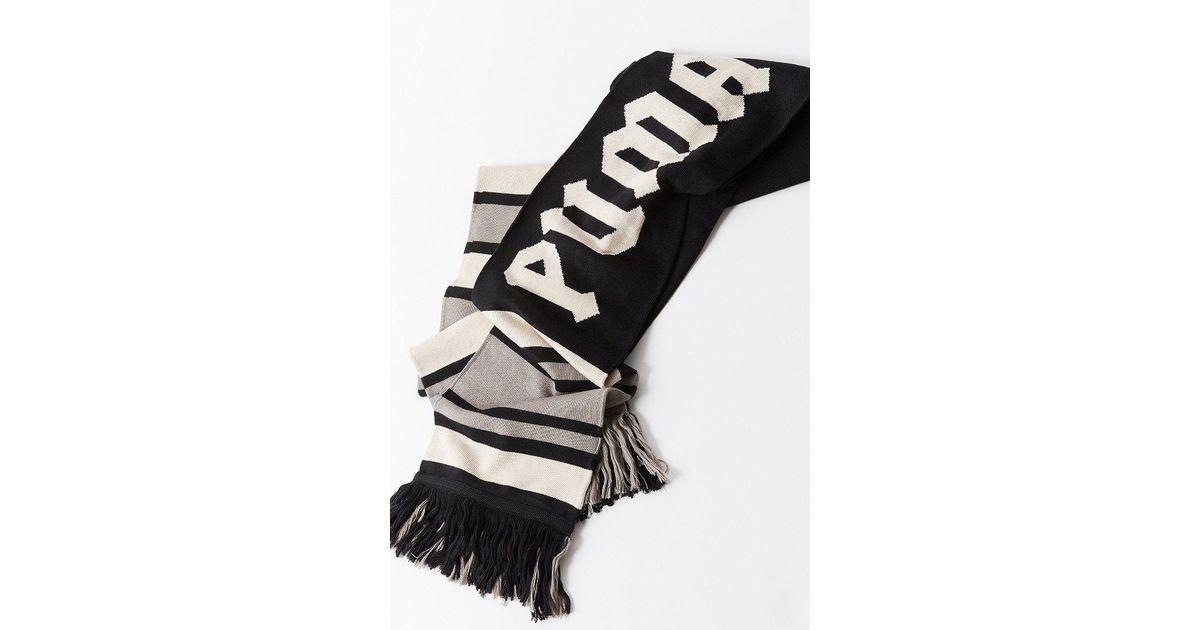 af8f814049f8d PUMA - Black Puma Fenty By Rihanna Long Varsity Scarf - Lyst