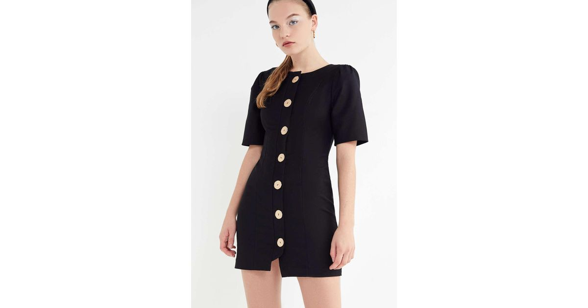 7df2fca08efc Finders Keepers Pompeii Button-front Mini Dress in Black - Lyst