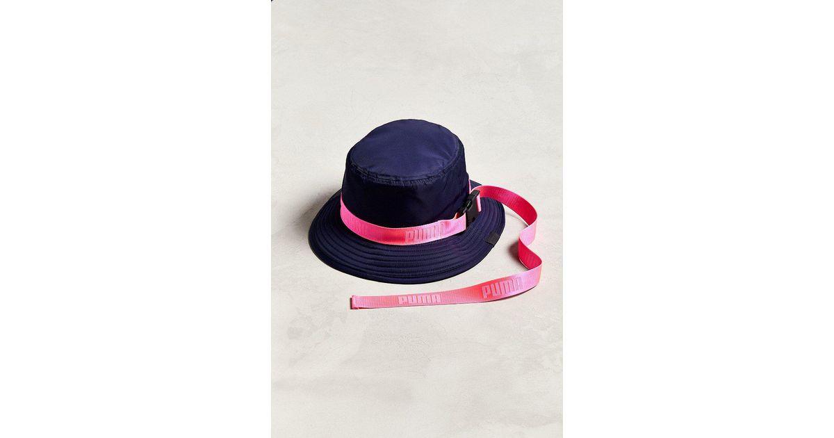 9cf27cecd3e ... spain lyst puma puma fenty by rihanna strapped bucket hat in blue ff02d  39a8e
