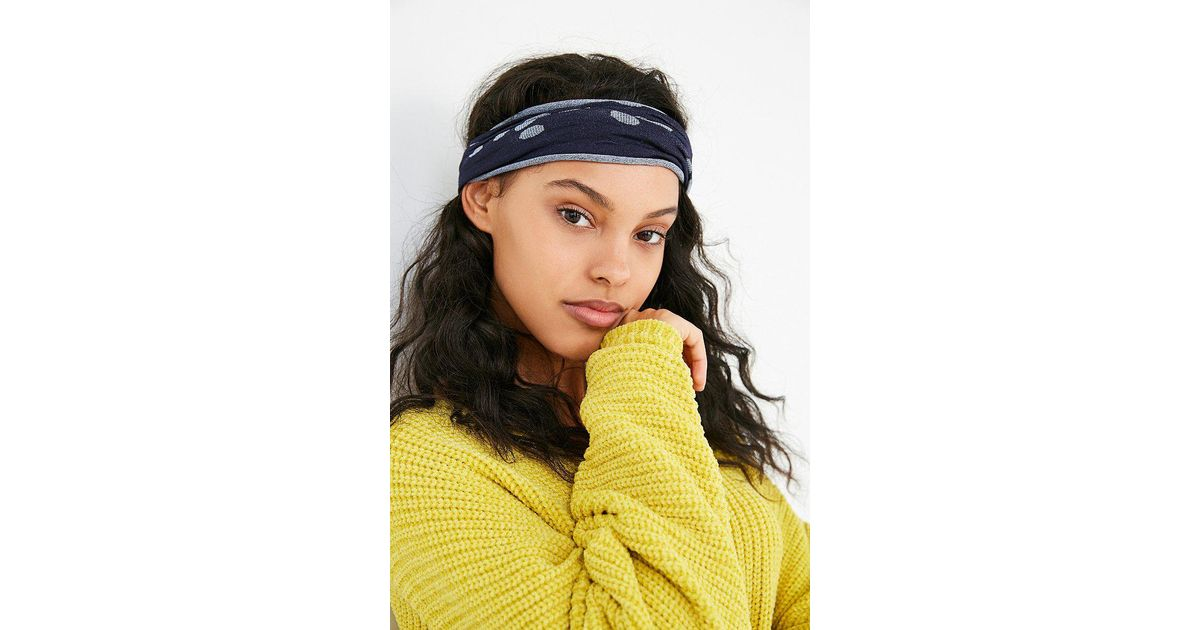 Lyst - Urban Outfitters Cleo Wideband Headwrap in Blue bb4bf5b75f9