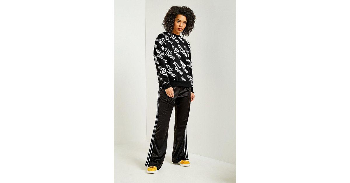 Fila Lauren Black Popper Track Trousers in Black - Lyst 3eb9e6dba8