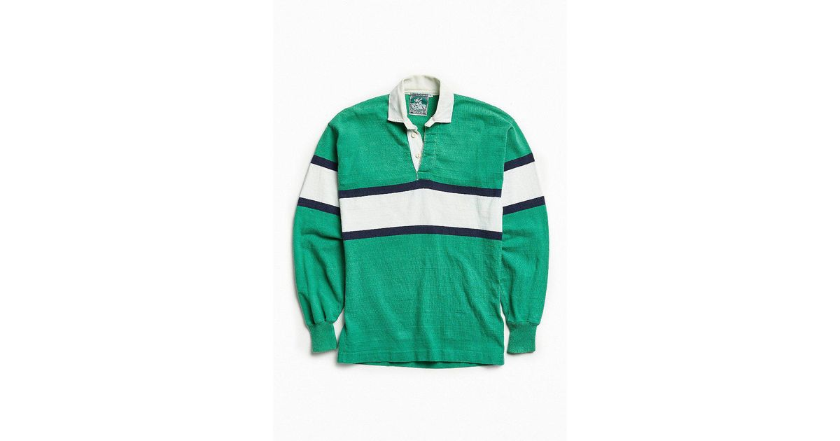 cbb0fc678ee Urban Outfitters Vintage Mcintosh & Seymour Stripe Rugby Shirt in Green for  Men - Lyst